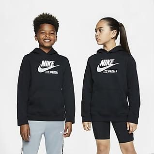 Nike Sportswear Club Fleece Los Angeles Sudadera con capucha sin cierre para niños talla grande