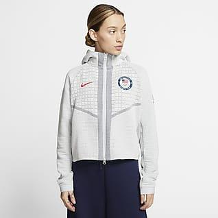 Nike Sportswear Team USA Tech Fleece Sudadera con gorro de cierre completo para mujer