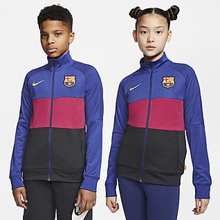 FC Barcelona Chamarra de entrenamiento de fútbol para niño talla grande