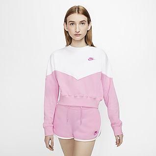 nike sweatshirt damen pink