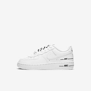 Rapaz Branco Air Force 1 Perfil baixo Sapatilhas. Nike PT
