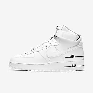 White Air Force 1 High Top Shoes. Nike.com