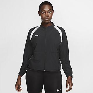 Nike F.C. Fodboldjakke med lynlås til kvinder