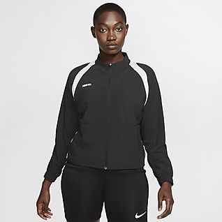 Nike F.C. Fotbollsjacka med dragkedja i fullängd för kvinnor