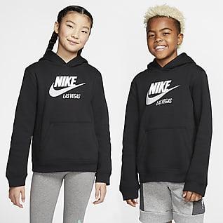 Nike Sportswear Club Fleece Las Vegas Sudadera con capucha sin cierre para niños talla grande