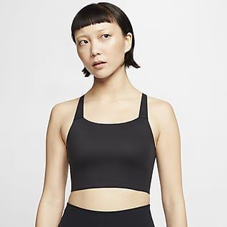 Nike Swoosh Luxe 女子中强度支撑衬垫运动内衣