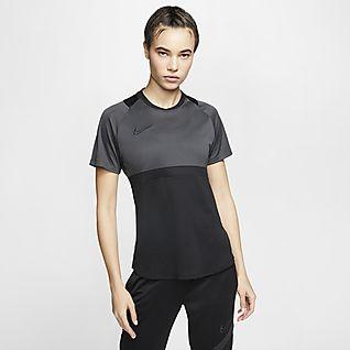 Nike Dri-FIT Academy Voetbaltop met korte mouwen voor dames