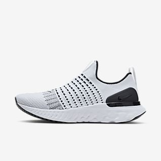 all white nike running shoes