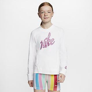 Nike Sportswear Sudadera de cuello redondo con gráfico para niña talla grande