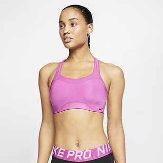 Nike Alpha Bra deportivo a rayas con almohadillas de alta sujeción para mujer