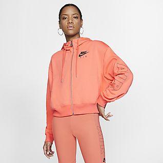 Nike Air Fleece-Hoodie mit durchgehendem Reißverschluss für Damen