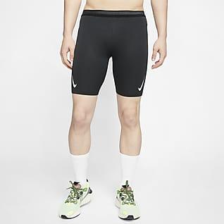 Nike 男款跑步五分緊身褲