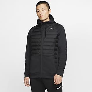 Nike Therma Hosszú cipzáras férfi melegítőfelső