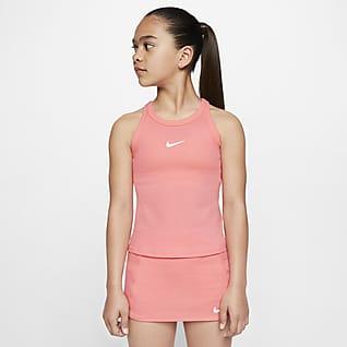 NikeCourt Dri-FIT Теннисная майка для девочек школьного возраста