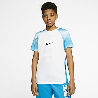 NIKE Active Graphics Boys Jersey T-Shirt Top