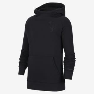 Olanda Felpa pullover da calcio in fleece con cappuccio - Ragazzi