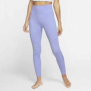 Nike Yoga กางเกงรัดรูปผู้หญิง 7/8 ส่วน