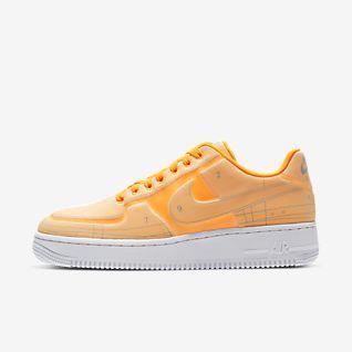 Orange Air Force 1 Schuhe. Nike DE