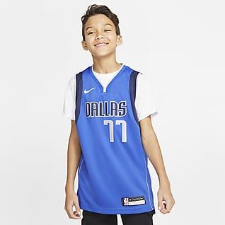 Mavericks Icon Edition Nike NBA Swingman-trøje til store børn