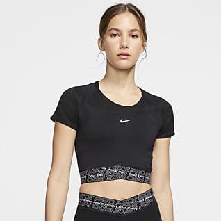 Nike Pro Dri-FIT Prenda para la parte superior de manga corta para mujer