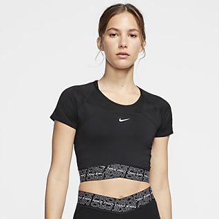 Nike Pro Dri-FIT Top a manica corta - Donna
