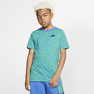 Turquoise All Over Print T-Shirt,95/% Polyester,Childrens Short Sleeve T-ShirtDo