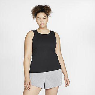 Nike Yoga เสื้อกล้ามผู้หญิง (พลัสไซส์)