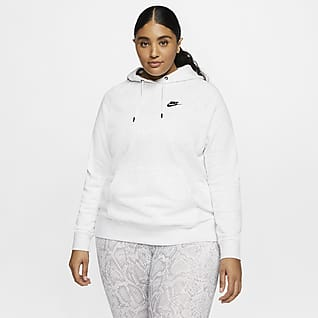 Nike Sportswear Essential Women's Fleece Pullover Hoodie (Plus Size)