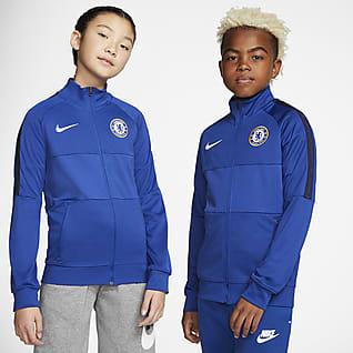 Chelsea FC Chamarra de entrenamiento de fútbol para niño talla grande