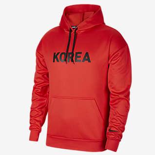 Korea เสื้อฟุตบอลมีฮู้ดผู้ชายแบบสวม