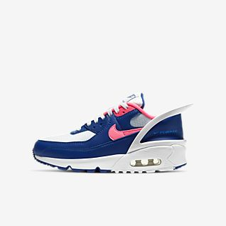 Nike Air Max 1 Youth GS shoes blue orange