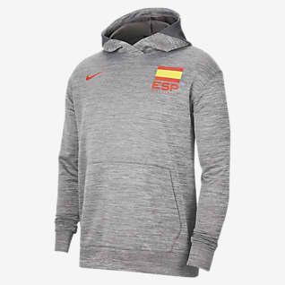 Spanien Nike Spotlight Basketballhættetrøje til mænd