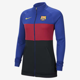 FC Barcelona Veste de survêtement de football pour Femme