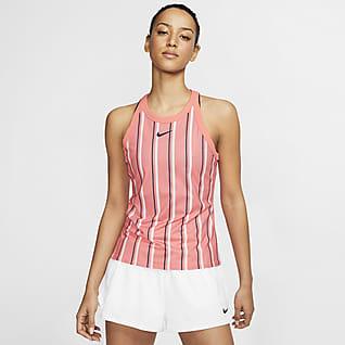 NikeCourt Dri-FIT Tennissinglet med trykk til dame