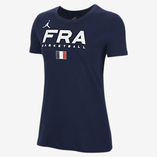 France Jordan Dri-FIT Γυναικείο T-Shirt προπόνησης μπάσκετ