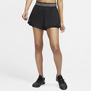 Nike Pro Flex 2-i-1 shorts til dame