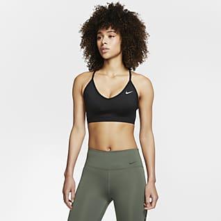 Nike Indy Sutiã de desporto almofadado de suporte ligeiro para mulher