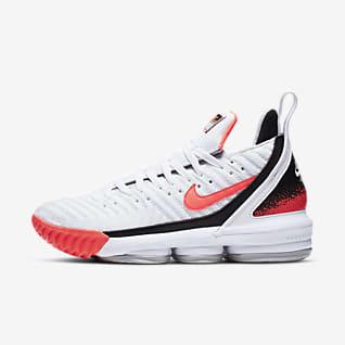 LeBron 16 Hot Lava White Basketball Shoe