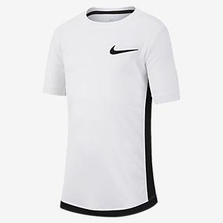 Nike Dri-FIT เสื้อเทรนนิ่งแขนสั้นเด็กโต (ชาย)