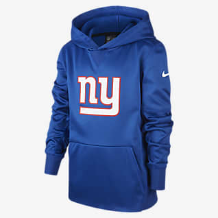 Nike (NFL Giants) Μπλούζα με κουκούλα για μεγάλα παιδιά