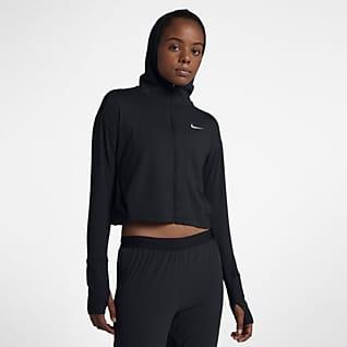 Nike Dámská běžecká mikina s kapucí a zipem po celé délce