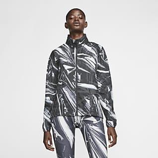 Nike Shield Damska kurtka do biegania z zamkiem na całej długości