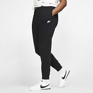 Nike Sportswear Essential Calças de lã cardada para mulher (tamanhos grandes)