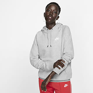 Nike Sportswear Essential Sudadera con capucha sin cierre de tejido Fleece para mujer