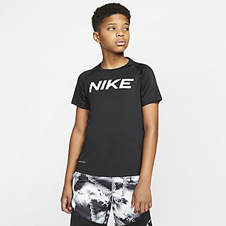 Nike Pro Футболка для тренинга с коротким рукавом для мальчиков школьного возраста