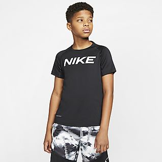 Nike Pro Kısa Kollu Genç Çocuk (Erkek) Antrenman Üstü
