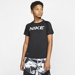 Nike Pro Kortærmet træningsoverdel til store børn (drenge)