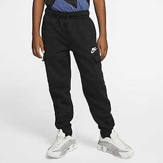 Nike Sportswear Club Chlapecké kapsáčové kalhoty pro větší děti (chlapce)