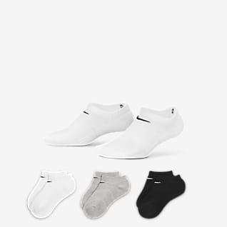 Nike Performance Cushion No-Show Socken für ältere Kinder (drei Paar)