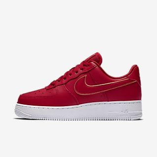 Nike Air Force 1 One Low 07 Sneaker Men/'s Lifestyle Shoes White Gym Red